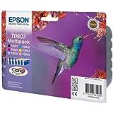 6 Original Printer Ink Cartridges for Epson Stylus Photo P50 - Cyan / Light Cyan / Magenta / Light Magenta / Yellow / Black