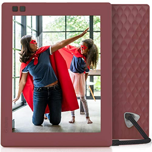 Nixplay Seed 8 Inch Digital Wifi Photo Frame W08D Mulberry - Smart Frame with IPS Display, Motion Sensor and 10GB Online Storage, Display and Share Photos with Friends via Nixplay Mobile App