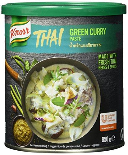 KnorrThaiGrüne Curry Paste(authentische,thailändischeRezeptur, Hergestellt in Thailand)1er Pack (1 x 850g)