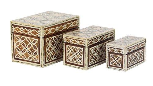 Deco Dekorative Box 79, dunkelbraun/creme (Brown Dark Batik)
