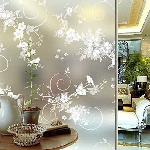 KUNHAN Fensterfolie Sichtschutzfolie 60 cm * 200 cm Frosted Privacy Selbstklebende Fenster Film Geprägte Glasaufkleber Folie Papier PVC Wohnkultur Badezimmer -