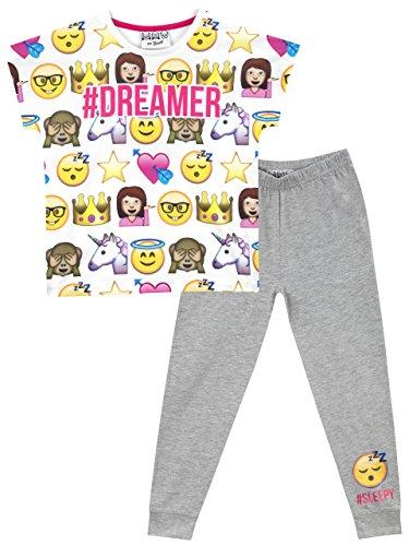 Emoji Mädchen Emoji Schlafanzug 164