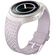 Fulltime (TM) Lujo Correa De Banda De Reloj De Silicona Y TPU Para Samsung Galaxy S2Gear SM-R720, hombre mujer Infantil, Purple1