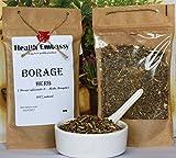 Borretsch Kraut 50g (Borago officinalis L. - Herba Boraginis) / Borage Herb 50g - Health Embassy - 100% Natural