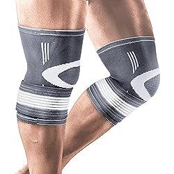 Kompression Kniebandage mit verstellbaren Trägern Elastic Bandage Liveup Sports im Alltag Arthritis Gelenkschmerzen und Verletzungen Recovery Mittel