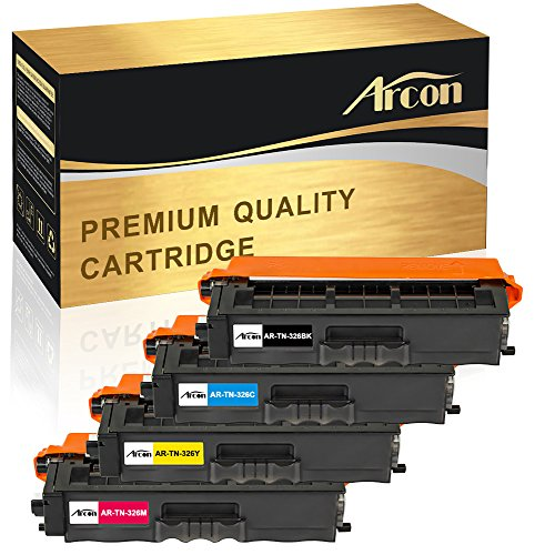 Arcon Kompatibel für TN-326 TN 326 TN326 für Brother HL-L8250CDN MFC L8650CDW HL-L8350CDW MFC L8850CDW MFC-L8600CDW DCP L8400CDN DCP L8450CDW (Brother Toner-l8600cdw)