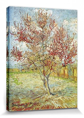 1art1® Vincent Van Gogh - El Melocotonero En Flor, Recuerdo De Mauve, 1888 Cuadro, Lienzo Montado Sobre Bastidor (80 x 60cm)