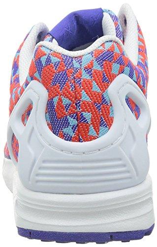 adidas - ZX Flux Weave, Senakers a collo basso, unisex Multicolor (night flash s15/ftwr white/core black)