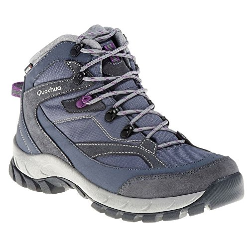 QUECHUA FORCLAZ 100 HIGH WOMEN'S WATERPROOF WALKING BOOTS – GREY