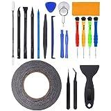 21 in 1 Profi Reparatur Werkzeug Set Tool kit für Handy und Smartphone & Multimedia oder andere Kleingeräte, Inkl. Mikrofasertuch.