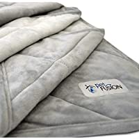 PetFusion Premium Plus Large Dog Blanket (135 x 107 CM). Reversible Gray Micro Plush. [100% poliéster blando]