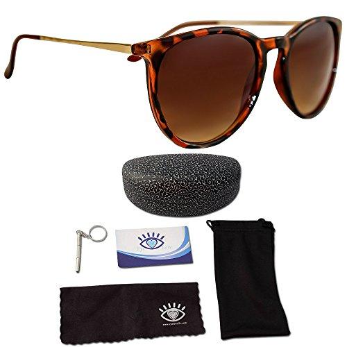 Mujer Gafas de sol polarizadas de ojo Love, diseñador, 100% UV bloque...