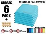 Super Dash Baby Blau (6 Stücke) von 50 X 50 X 5 cm Bevel Decke Studio Akustikschaumstoff Noppenschaumstoff Akustik Dämmmatte Schallisolierung Schaumstoff Polster Fliesen SD1039