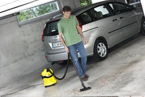 Kärcher WD2 - Aspirador en seco y húmedo, 1000 W, 12 l, versión alemana
