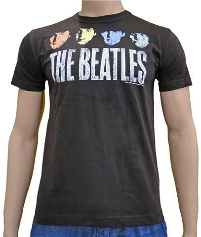 The Beatles–Vintage Pop Logo T-shirt S à XXL XL Marron - marron