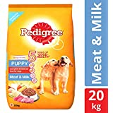 Pedigree Puppy Dry Dog Food, Meat & Milk – 20 kg Pack