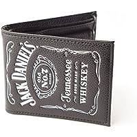 Jack Daniels - Cartera de hombre con el logo clásico, color negro