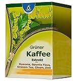 Grüner Kaffee Extrakt, 50% Chlorogensäure mit Extrakten aus Guarana, Grünem Tee, Opuntia Ficus indica (Kaktusfeige), B-Vitaminen, Zink, Chrom, 60 Kapseln, Monatspackung, natürlich Abnehmen