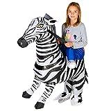 Bodysocks® Aufblasbares Zebra Kostüm für Kinder