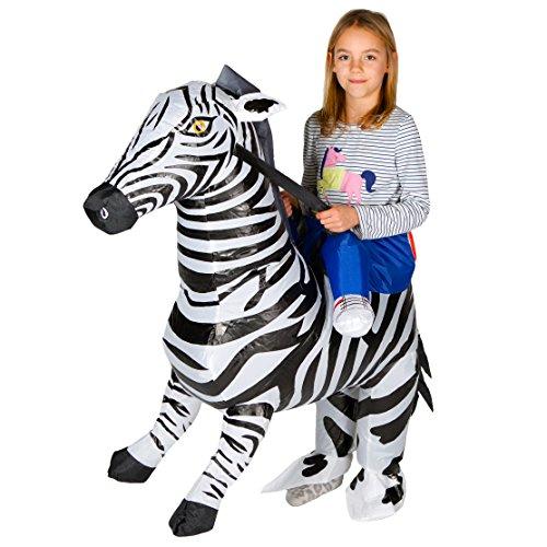 Bodysocks® Aufblasbares Zebra Kostüm für ()