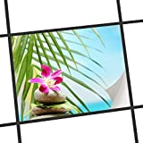 creatisto Fliesen-Sticker/Designfolie 25x20 cm 1x1 / Design Aufkleber Lotus Flower/Selbstklebender Schutz