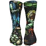 Religious Christians Printed Men's/Women's 11.8 Inch Sport Athletic Stockings Casual Elastic Socks Compression Socks