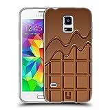 Head Case Designs Schokolade Tropft Schokoriegel Soft Gel Hülle für Samsung Galaxy S5 Mini