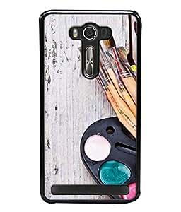 PrintVisa Painting Brushes High Gloss Designer Back Case Cover for Asus Zenfone Selfie ZD551KL
