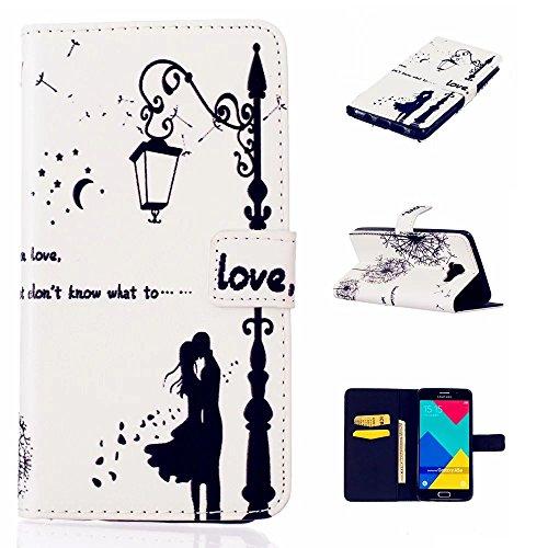 TKSHOP Funda cuoio della copertura per Samsung Galaxy A5 SM-A510F (2016) Custodia Case Cover Cassa (Bambino Basamento Di Libro)