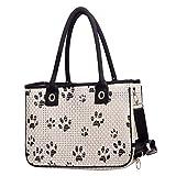 ZI QI DE XIAO DIAN Pet Carrier Bag für Hunde oder Katzen,Fluggesellschaft Genehmigt,Bis zu 15 lbs - Perfekt für Flugzeug, Zug und Auto Reisen (40 * 17 * 26cm)