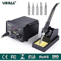 Mbuynow 937D Estación de soldadura,Temperatura Controlada Electrónicamente,Pantalla LCD, Ajustable desde 200-480C ° 45W