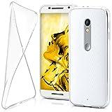moex Motorola Moto X Play | Hülle Silikon Transparent Klar Clear Back-Cover TPU Schutzhülle Dünn Handyhülle für Motorola Moto X Play Case Ultra-Slim Silikonhülle Rückseite