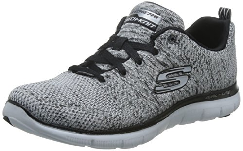 Skechers Damen Flex Appeal 2.0-High Energy Outdoor Fitnessschuhe, Weiß (WBK), 35 EU