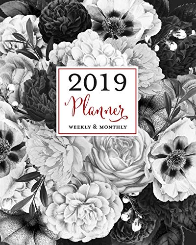2019 Planner Weekly & Monthly: Vintage Black & White Botanical Agenda Book, 2019 Splendid Planner -
