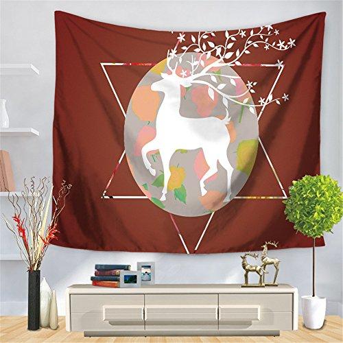 JCDZH-FT Weihnachtsgeschenk Rechteckigen Animal Print Frische Blumen Wohnkultur Tapisserie Strandtuch Tischdecken, 150 * 130 cm