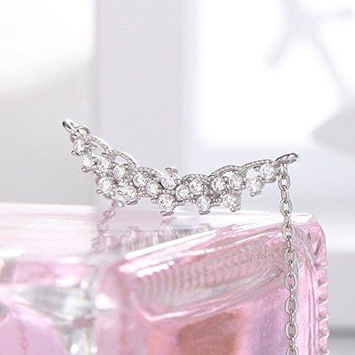 Aoligei Sterlingsilber S925 Licht Diamant Halskette Neues Halsband Kette Elektrische Händler Luxusboutique Set Silber Kette