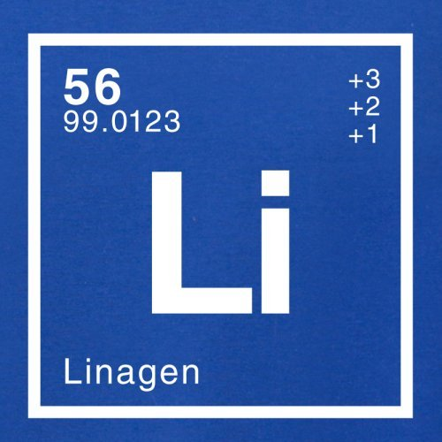 Lina Periodensystem - Herren T-Shirt - 13 Farben Royalblau