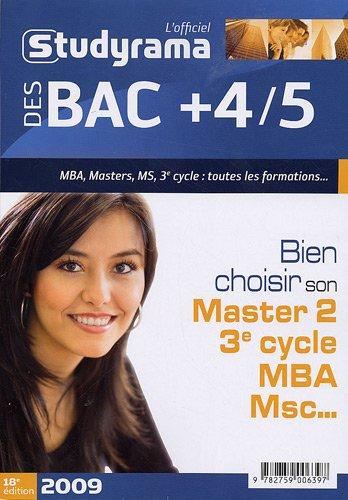 L'officiel Studyrama des bac + 4/5