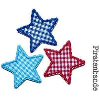 Set 3 Mini Bügelsterne Patch zum aufbügeln Kinder/Erwachsene Hosenflicken