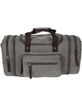 Übergroße Segeltuch-Reise-Tasche Großer Kapazitäts-Gepäck-Kasten Weekender Beutel-Schwarzes