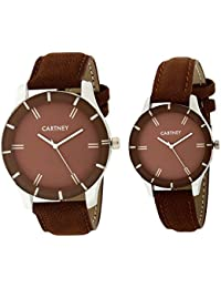 Cartney Combo of 2 Analogue Brown Dial Mens and Womens Watches-We234553