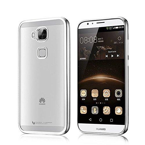 UKDANDANWEI iPhone 6 6s Hülle - Ultradünnen TPU Case Schutzhülle Kristall Löschen Bling transparent Silikon Tasche für iPhone 6 6s Schwarz Silber