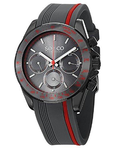 SO&CO New York Monticello Herren-Armbanduhr Analog Quarz Silikon - 5010R.2
