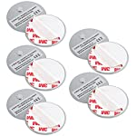 X-Sense Adhesives Magnetic Attachments for Smoke Alarm Fire Detectors [5-Pack] by X-Sense