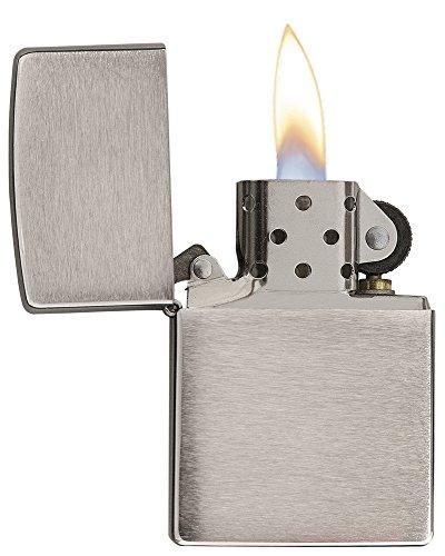 Zippo Benzin Feuerzeug Chrom Standard gebürstet Regular Sturmfeuerzeug - 3