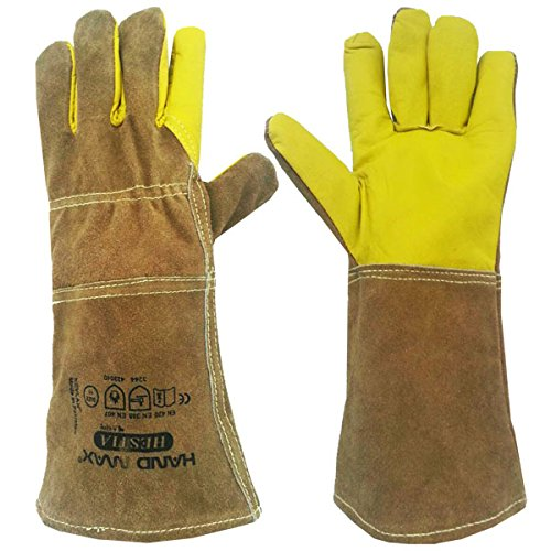 Animal Handhabung Handschuhe Gauntlet Leder kevlkar Hunde, Katzen, und Reptilien (Katze Handschuhe)
