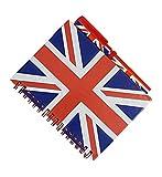 Union Jack notebook e corrispondenza penna-medio formato A6/London souvenir bloc notes/stampa motivo bandiera britannica/UK anticata/Notepad