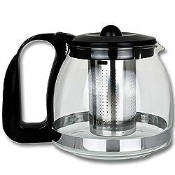 Teeaufbereitung - Kanne - Glaskanne - Teekanne Glas mit Größenauswahl (1250ml)