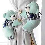 meizu881par de alzapaños para cortina, diseño de osos, para cortina de habitación de niños, tela, Style 3, talla única