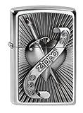 Zippo Herren Feuerzeug 2003969 Heart with Sword Benzinfeuerzeug Edelstahloptik 1 x 3,5 x 5,5 cm